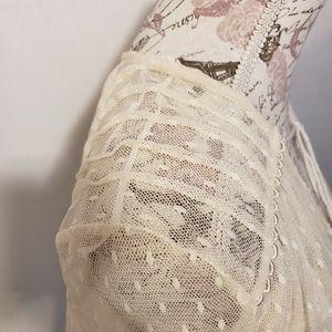 Free People Tops - Free People bohemian cream lace & swiss dot top